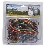 Paquet de 16 cordes élastiques, dimensions et couleurs variées